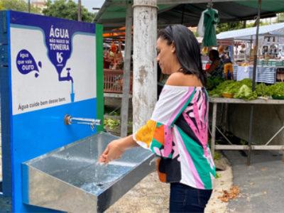 Sabesp instala 13 lavatórios na região para evitar a propagação do vírus