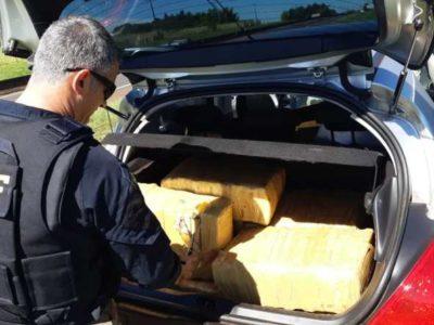 PRF apreende mais de 200 quilos de maconha na região
