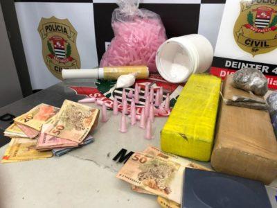 Operação prende quatro homens e apreende grande quantidade de drogas na zona Sul