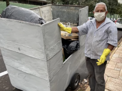 Campanha mobiliza internautas para ajudar catador de recicláveis
