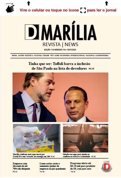 D MARÍLIA REVISTA|NEWS WEEKEND – EDIÇÃO 18 e 19/07/2020 – SÁBADO E DOMINGO