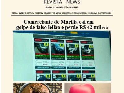 D MARÍLIA REVISTA|NEWS – EDIÇÃO – 23/07/2020 – QUINTA-FEIRA