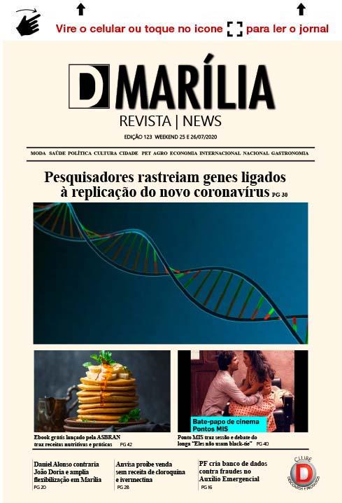 D MARÍLIA REVISTA NEWS – EDIÇÃO WEEKEND – 25 E 26/07/2020