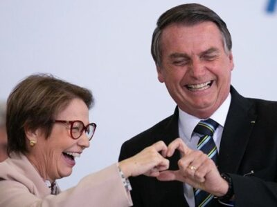 Bolsonaro elogia Tereza Cristina e diz que agronegócio vem batendo recordes