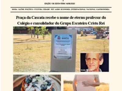 D MARÍLIA REVISTA|NEWS – EDIÇÃO 14-08-2020 – SEXTA-FEIRA