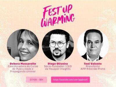 Coordenadora do curso de publicidade e propaganda da Unimar palestra na 27ª edição do Fest'UP Warming