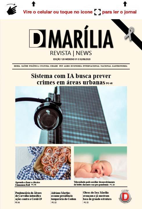 D MARÍLIA REVISTA NEWS – EDIÇÃO WEEKEND – 01 E 02/08/2020
