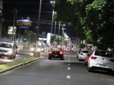 Avenida Nelson Severino Zambon, no bairro Fragata, já está com nova iluminação