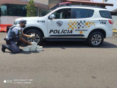 PRE prende homem com dezenas de tabletes de pasta base de cocaína na SP-333