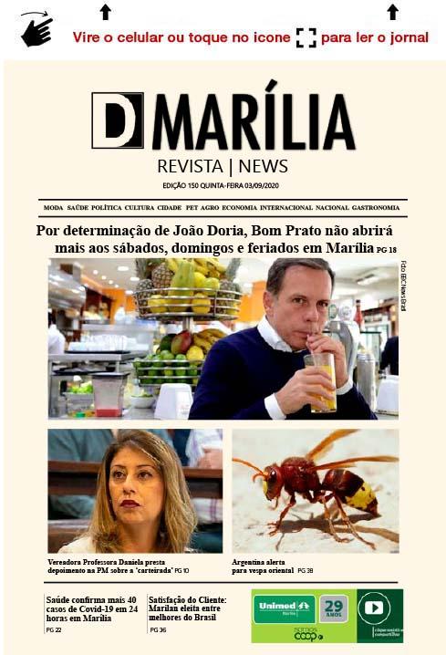 D MARÍLIA REVISTA|NEWS – EDIÇÃO 03-09-2020 – QUINTA-FEIRA