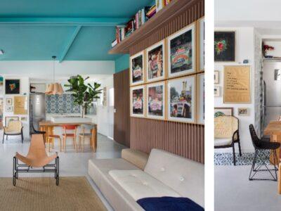 Colorido, iluminado e único, apartamento tem a bossa carioca