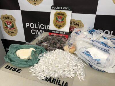Polícia Civil prende mulher após encontrar grande quantidade de drogas na zona Sul