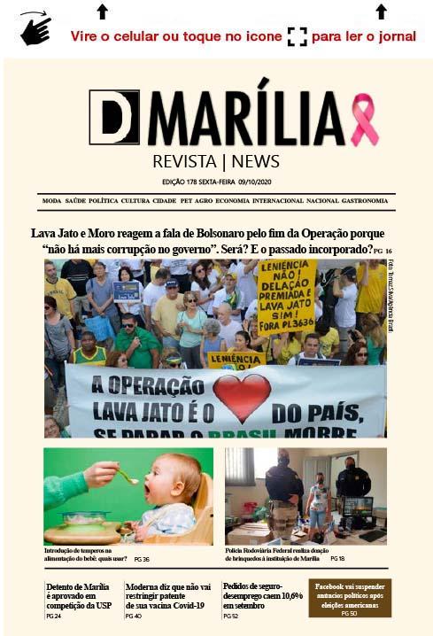 D MARÍLIA REVISTA | NEWS – EDIÇÃO 09-10-2020 – SEXTA-FEIRA