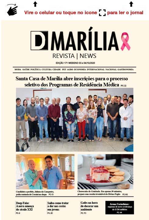 D MARÍLIA REVISTA|NEWS – EDIÇÃO WEEKEND – 03 E 04/10/2020