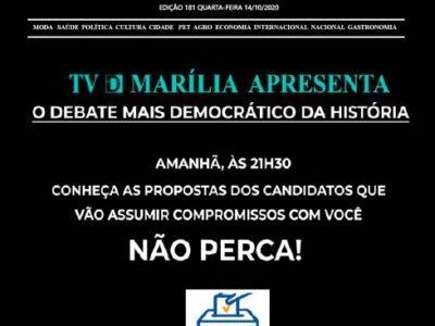 D MARÍLIA REVISTA NEWS – EDIÇÃO 14-10-2020 – QUARTA-FEIRA