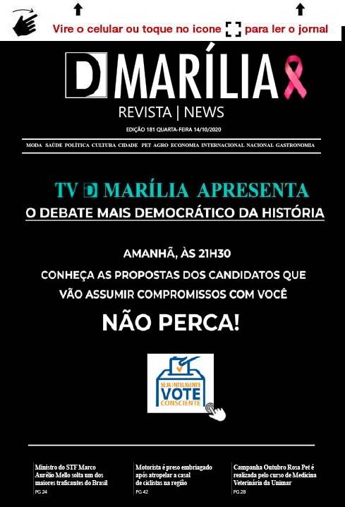 D MARÍLIA REVISTA|NEWS – EDIÇÃO 14-10-2020 – QUARTA-FEIRA
