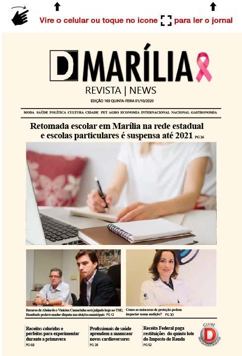 D MARÍLIA REVISTA | NEWS – EDIÇÃO 01-10-2020 – QUINTA-FEIRA