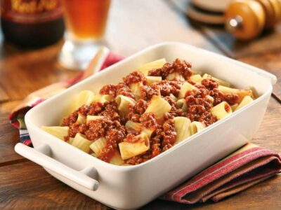 Prepare o delicioso Tortiglione à Bolonhesa