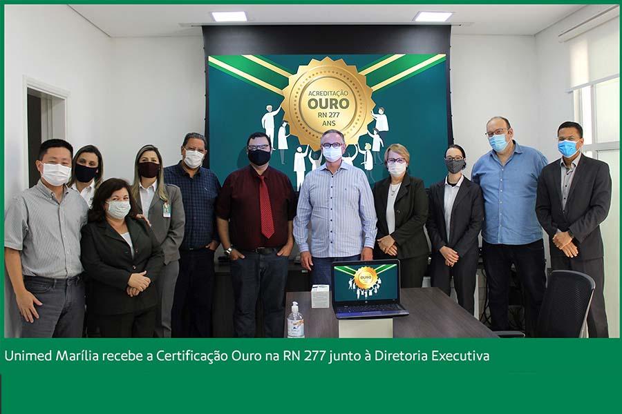 Unimed Marília recebe certificação Nível Ouro