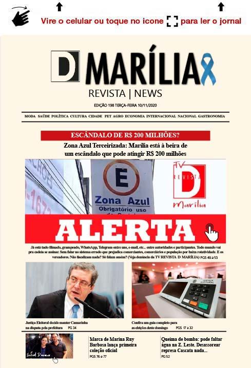 D MARÍLIA REVISTA NEWS – EDIÇÃO 10-11-2020 – TERÇA-FEIRA