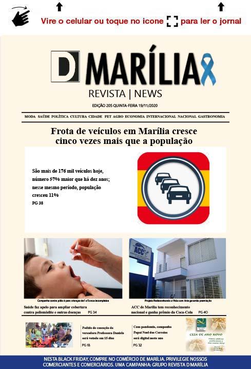 D MARÍLIA REVISTA   NEWS – EDIÇÃO 19-11-2020 – QUINTA-FEIRA