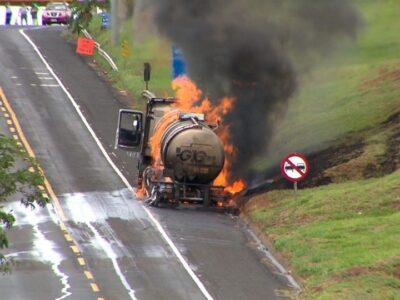 Após 13 horas de interdição, trecho da BR-153 entre Marília e Ocauçu é liberado
