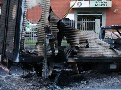 Quadrilha aterroriza centro de Criciúma  durante assalto a banco na madrugada
