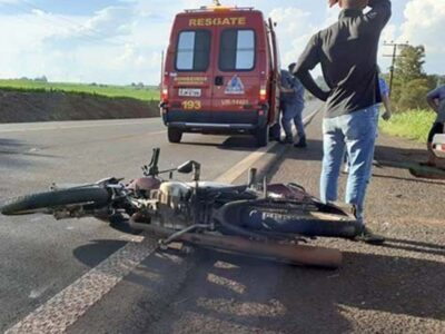 Motociclista morre ao colidir com  carro que fazia conversão proibida