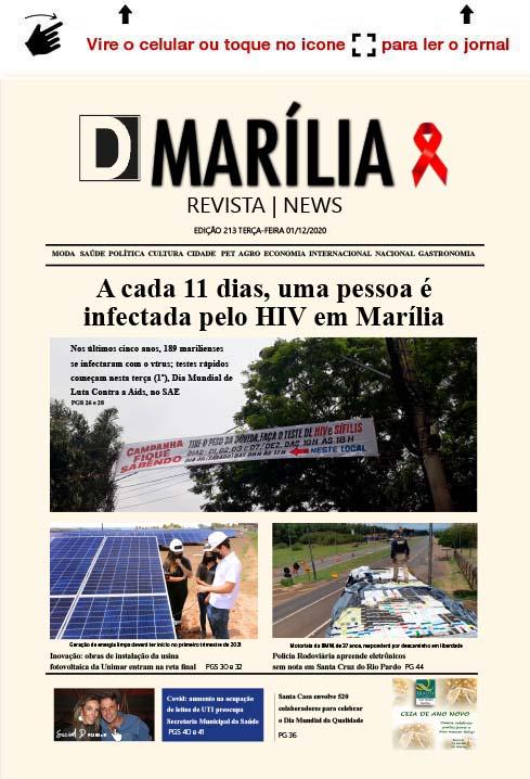 D MARÍLIA REVISTA|NEWS – EDIÇÃO 01-12-2020 – TERÇA-FEIRA