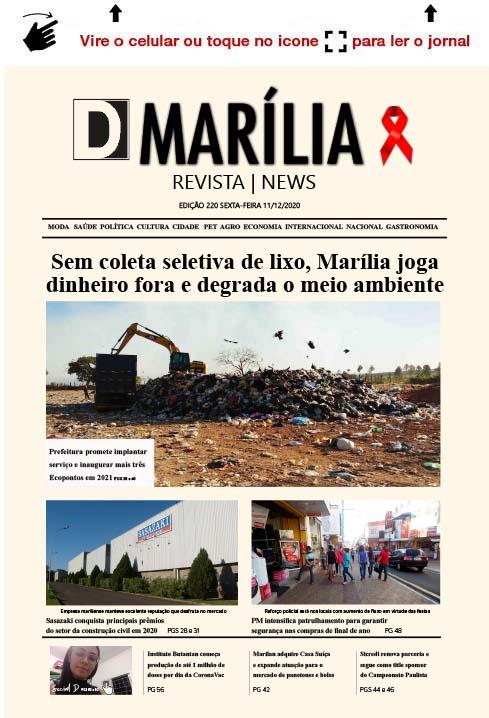 D MARÍLIA REVISTA | NEWS – EDIÇÃO 11-12-2020 – SEXTA-FEIRA