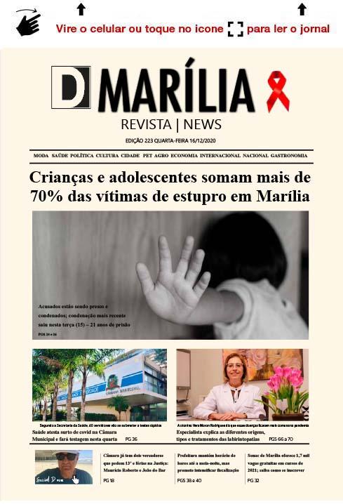 D MARÍLIA REVISTA|NEWS – EDIÇÃO 16-12-2020 – QUARTA-FEIRA