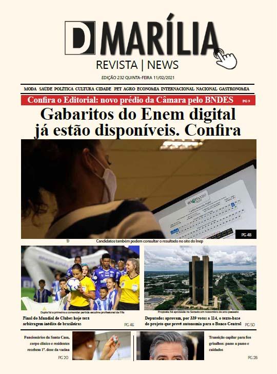 D MARÍLIA REVISTA|NEWS – EDIÇÃO – 11/02/2020 – QUINTA-FEIRA