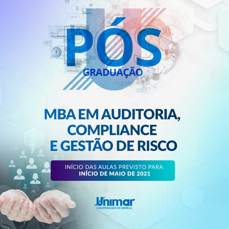 Unimar tem matrículas abertas para MBA em  Auditoria, Compliance e Gestão de Risco