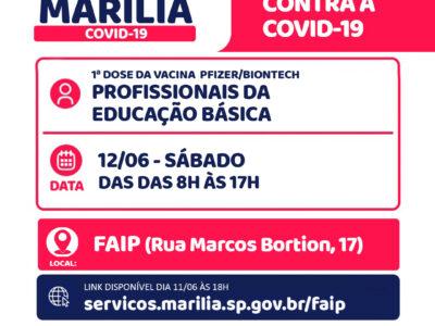 Faip recebe amanhã campanha de vacinação para todos os profissionais da ativa
