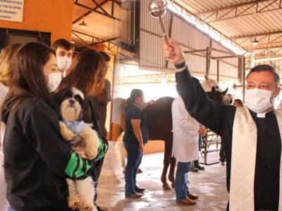 Tradicional bênção aos animais é realizada pelo curso de Medicina Veterinária da Unimar