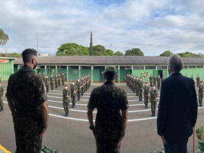 Atiradores de Marília recepcionam comitiva da Seção Tiro de Guerra da 2ª Região Militar